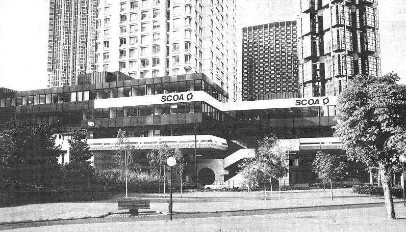 Le siège social du GROUPE SCOA à Paris en 1987