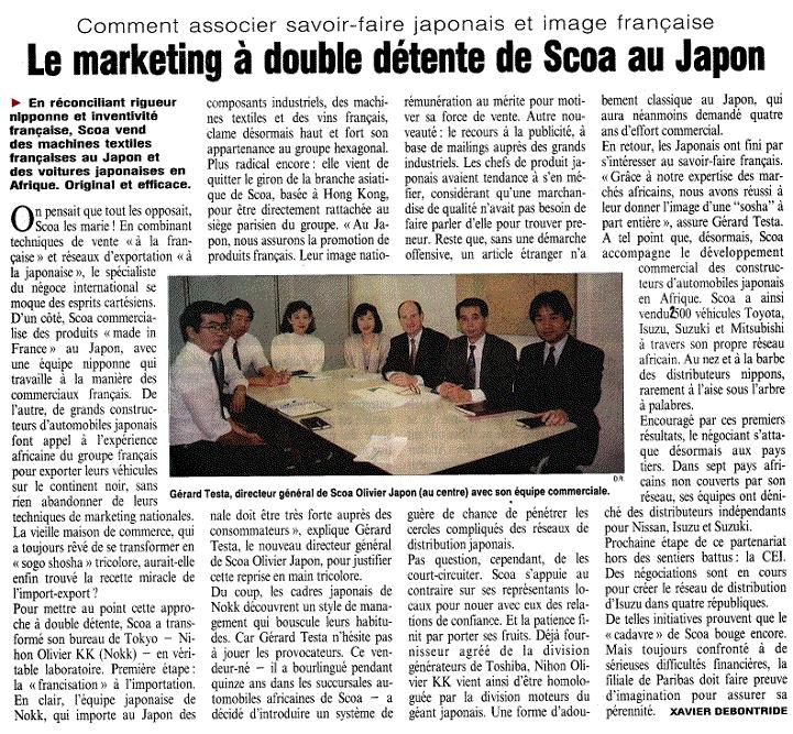 'L'Usine Nouvelle' 18 Mars 1993